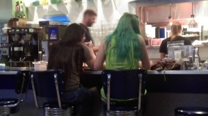 I mean, isn't this a story? Someone walks into a diner and there's a girl with mermaid hair.